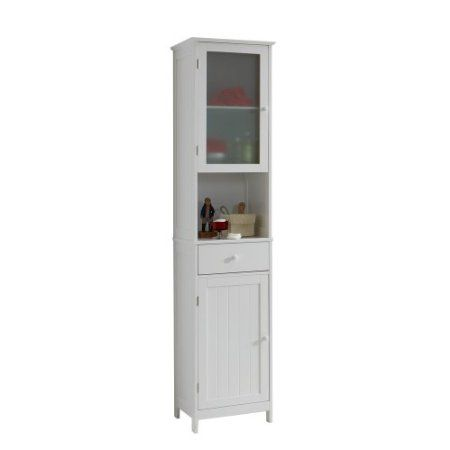 FMD Tall Bathroom Cabinet Stockholm 1, 40 x 180 x 35 cm, White: Amazon.co.uk: Kitchen & Home