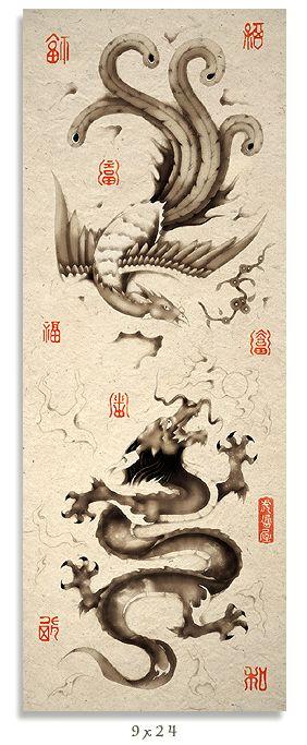 Oriental - Dragon and Phoenix