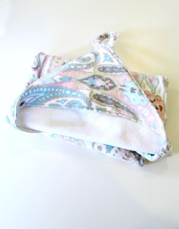 Infant Baby Hooded Towel Robe Pink Paisley on Etsy, $15.00