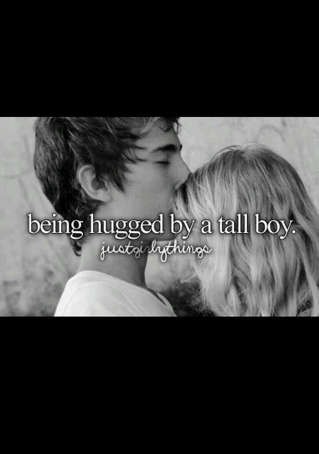 Girl thing! Haha its just that boys hug me and it makes me ...