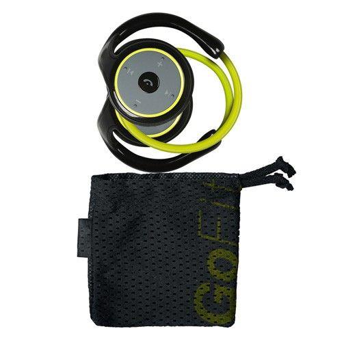 Căștile pentru alergat Bluetooth GoFit vor transforma antrenamentul într-o activitate foarte plăcută! Ascultați muzică comod sau vorbiți la telefon cu aceste elegante și practice căști pentru sport. Uitați de cabluri enervante! Concepute pentru sportivi, aceste căști sunt realizate din materiale speciale și au o calitate excelentă a sunetului. Total flexibile, acestea se adaptează perfect formei capului dvs. Săculeț de depozitare din pânză inclus și cablu USB / micro USB de încărcare.