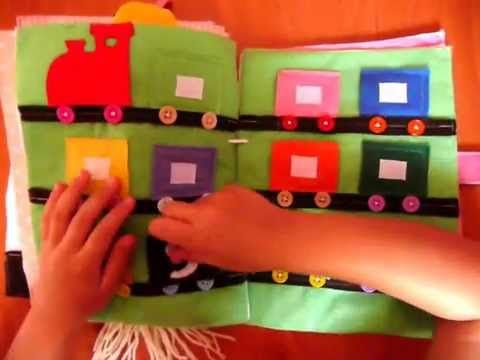 Libro didáctico en fieltro - quiet book - YouTube