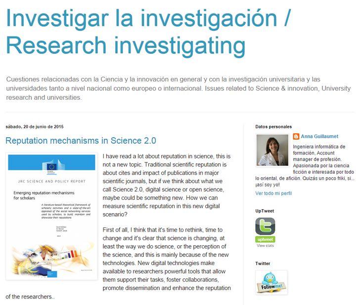 Anna Guillaumet - Investigar la investigación