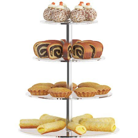 3/4/5/6 Tier Clear Cupcake Cake Stand Cupcake Stand Tree Clear Tower Cup Cake Dessert Display Wedding Party Decorations