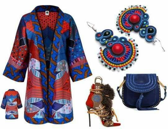 Spring/summer 2016 Kimono - maiko by Aleksandra Majczyna (handmade) Earrings- Sutasz-Anka by Anna Łukasiak (handmade) Shoes - Dsquared2  Bag - Chloe #africanstyle #kimono #earrings #boho #soutache #maiko #sutaszanka #aficanfasion