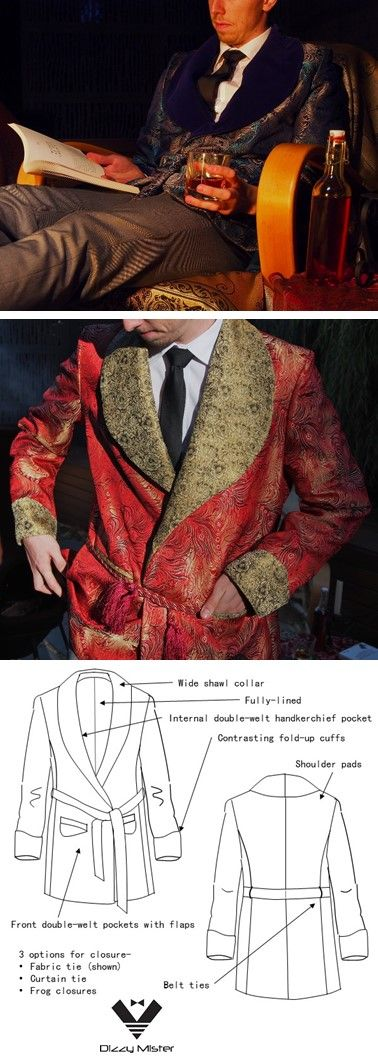 These smoking jacket patterns were a task and a half! But have turned out beautifully. Try the pattern- a challenge, but worth it for the final garment!