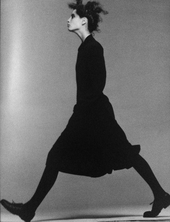 Christy Turlington by Peter Lindbergh for Comme des Garcons, 1986