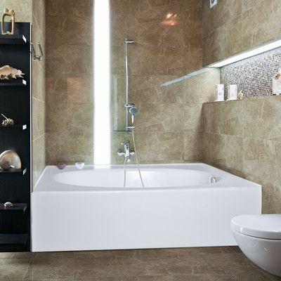 "Hydro Systems Builder Kona 60"" x 42"" Soaking Bathtub Finish: Biscuit, Drain Location: Right"