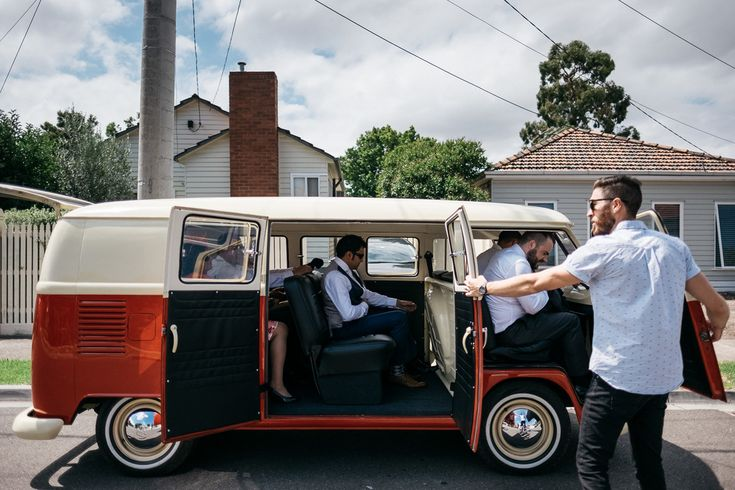 Quirky transport - unique Kombi wedding Melbourne Australia photographer