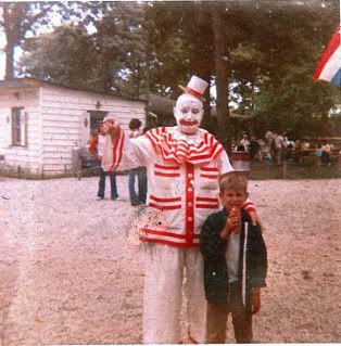 John Wayne Gacy dressed as his alter-ego, Pogo, c.1970's. One of the darkest times in Chicago history….
