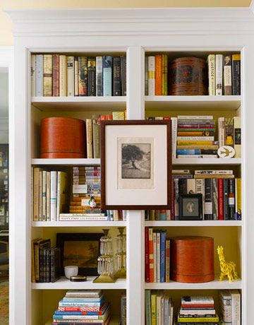 Don't just fill your shelves. Color them, arrange them, decorate them, dress them, personalize them. The books you store on your shelves are just the beginning.