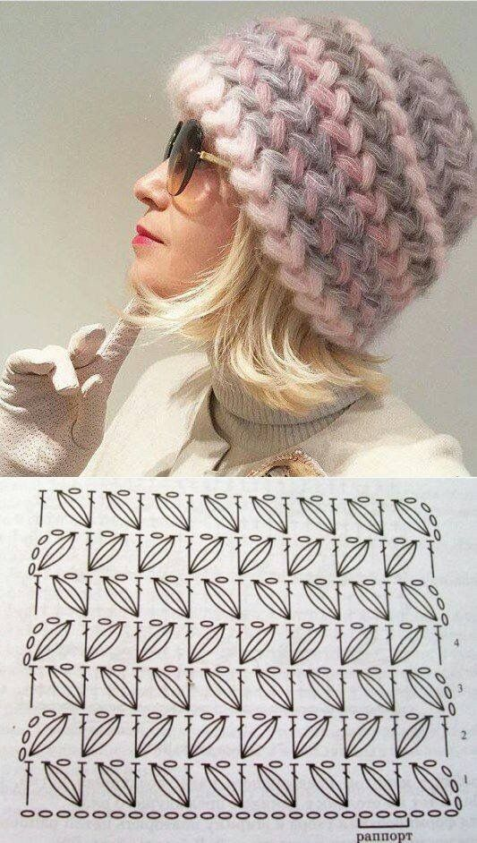 Bello gorro de crochet