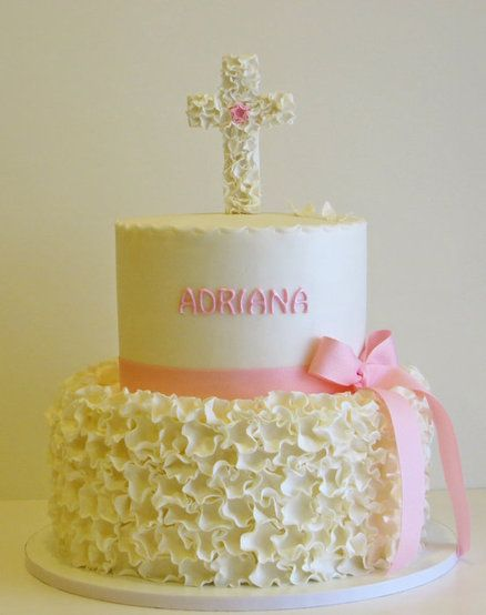 Baptism cake for my sweet God daughter