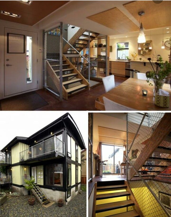 DIY Used Cargo Homes & Shipping Container House Plans. This is actually a  neat idea :)