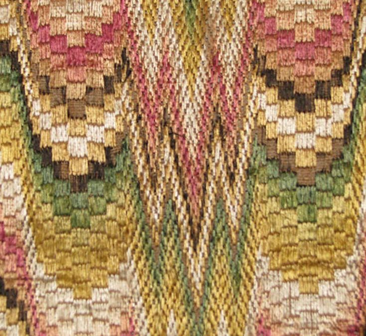 Late 17th or Early 18th Century Italian or French Silk Bargello Panel | From a unique collection of antique and modern textiles and quilts at http://www.1stdibs.com/furniture/more-furniture-collectibles/textiles-quilts/