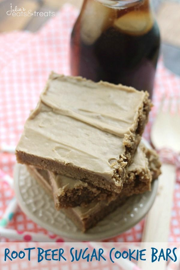 Root Beer Float Sugar Cookie Bars on MyRecipeMagic.com