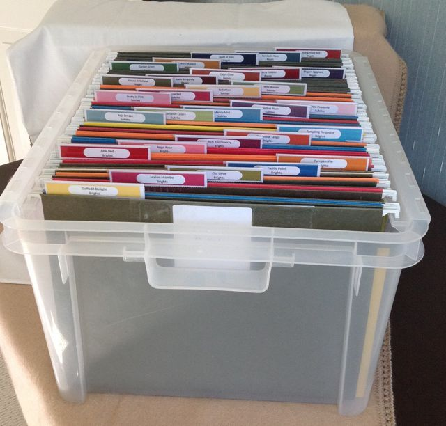 Perfect Way to Organize your Stampin' Up! Paper ~ Stampin' Up!