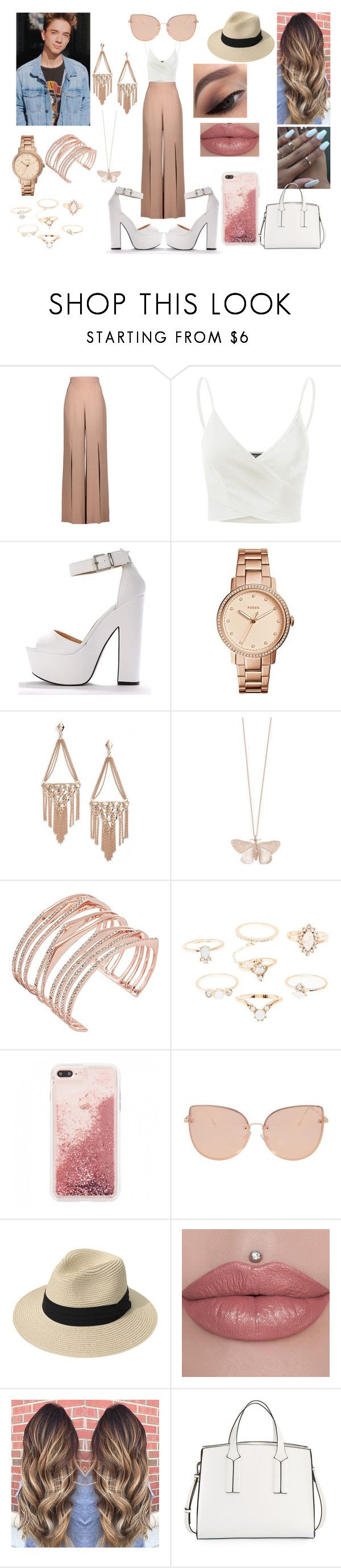 """Summer City Date With Daniel Seavey"" by roxy-crushlings ❤ liked on Polyvore featuring Cushnie Et Ochs, Doublju, FOSSIL, Kendra Scott, Alex Monroe, Alexis Bittar, Charlotte Russe, Topshop, French Connection and DanielSeavey"