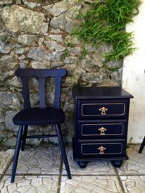Follow me and my fabulous customers on facebook and get the best inspiration for easy furniture updates . Customer Ania Jankowska used Coastal Blue milk paint by General Finishes for this one. With the Satin High Performance Top coat on the drawer set. All available here www.shabby.ie