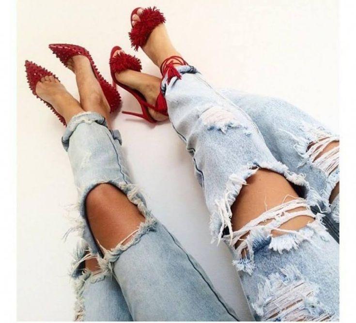 roztrhané džíny rady