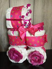 Diaper Carriage/ Diaper Bassinet/ Diaper Stroller/ Pink Baby Girl ...