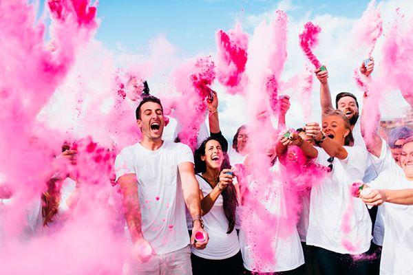 Divertidos polvos de colores para tu celebración