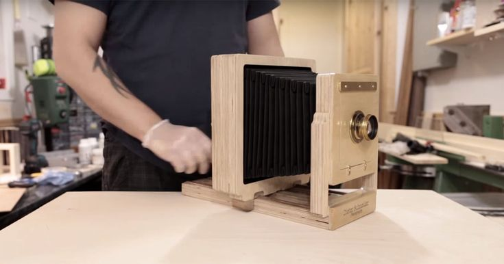 Photographer Dieter Schneider recently built a 4x5 large format camera for wet plate photography out of plywood using his Shapeoko 3 desktop CNC machine. L