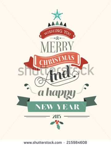 Happy holidays message with illustrations on cream background