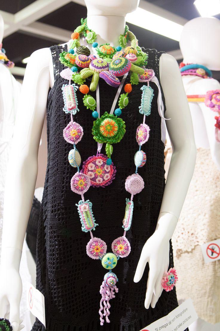 #idea per realizzare collane a #crochet | Luisa De Santi
