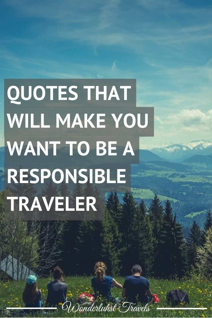 Being a traveler is easy, being a responsible traveler... is literally just as…