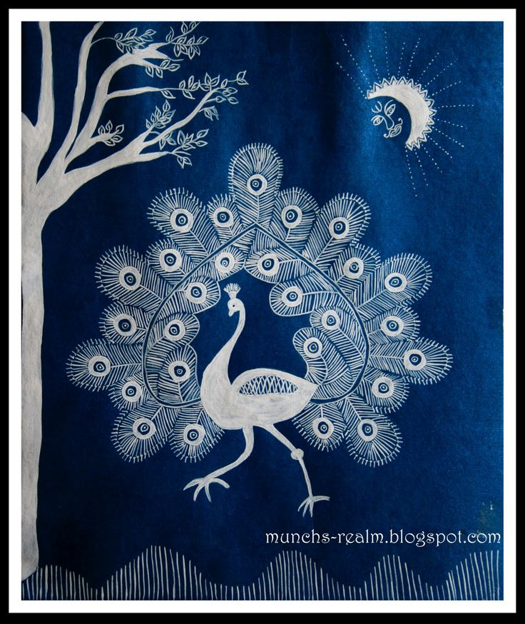 Warli Art: Crafts,Music & Cooking: Warli Peacock