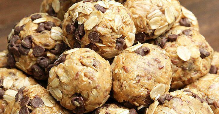 Kuličky z ovesných vloček, arašídového másla a lněných semínek + video
