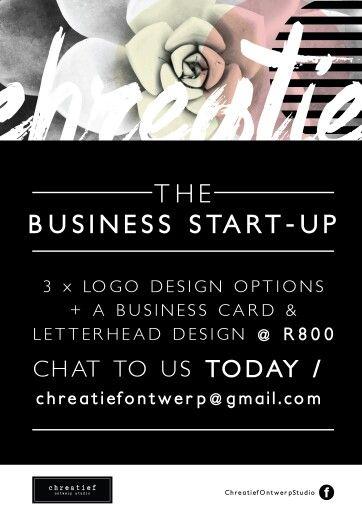 The Chreatief Business Start-Up Package // R800.  #Logo #BusCard #Letterhead #Design