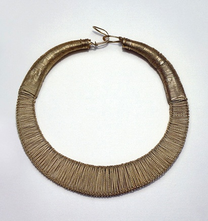China   Necklace from the Folded Silk Miao people of Guizhou Province, Wenxiang Village, Kalli, Taijiang County   Silver, wire