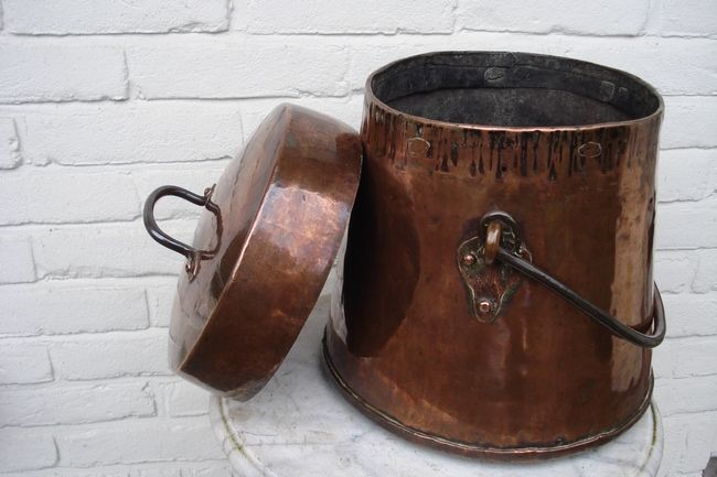 Doofpot in rood koper - Holland - 18e eeuw