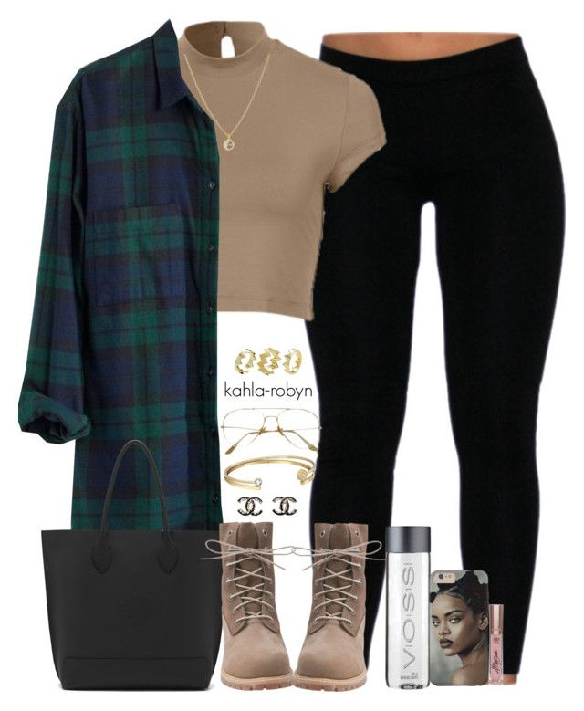 """""""04 21 16"""" by kahla-robyn ❤ liked on Polyvore featuring Madewell, Mulberry, Timberland, Chanel, Michael Kors, Finn and Pixie Grey"""