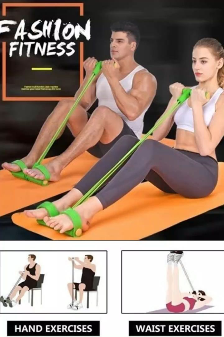 4-Tube Pedal Fitness Rope for Women & Men