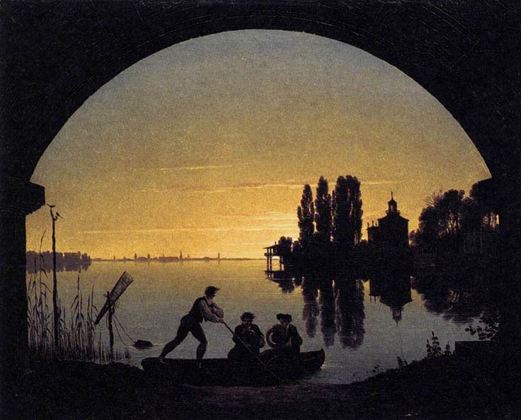 Great Karl Friedrich Schinkel The banks Of The Spree Near Stralau