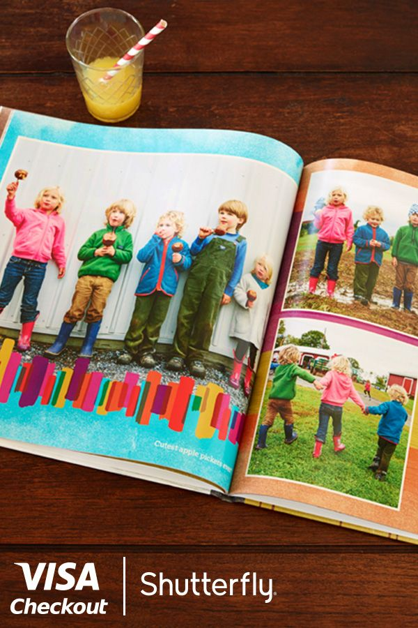 Easily turn memories into something you can hold on to. Make your own Photo Book here. Just pay with Visa Checkout on shutterfly.com and enjoy $20 off your next order. Offer valid through 11/3/15 or while supplies last. Limit 1 per person. Full terms at www.shutterfly.com/visacheckout.