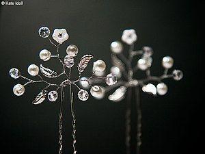 Создаем нежные шпильки для свадебной прически | Ярмарка Мастеров - ручная работа, handmade