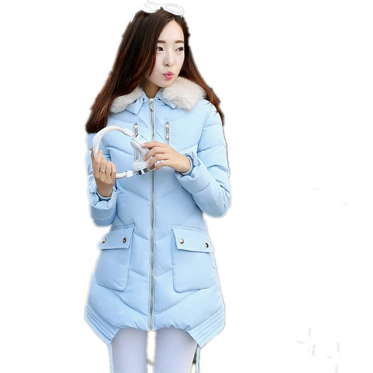 2017 Cute Fur Collar Womens Winter Parka Jackets And Coats String 5 Color Outerwear Pocket Overcoat Zipper Hooded Parkas YY47