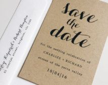 Deposit : kraft save the date cards, typography save the date, rustic save the date, calligraphy save the date, wedding save the date cards
