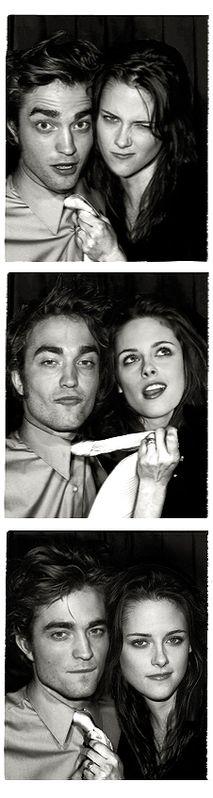 Rob Pattinson and Kristen Stewart ... in a Photo Booth