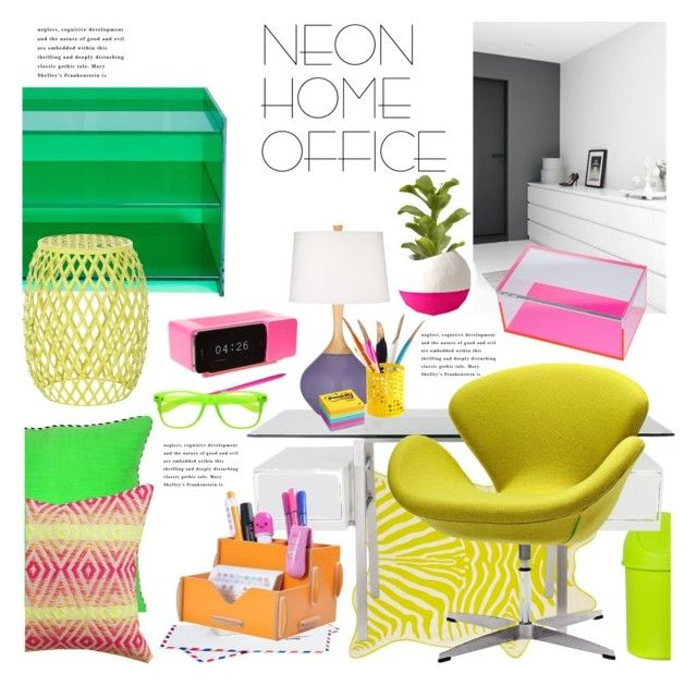 """""""Neon Home Office"""" by janephoto ❤ liked on Polyvore"""