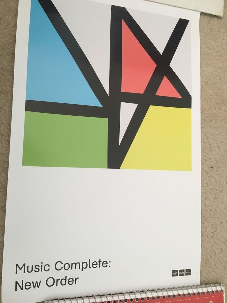 New Order RARE Promotional Poster | eBay