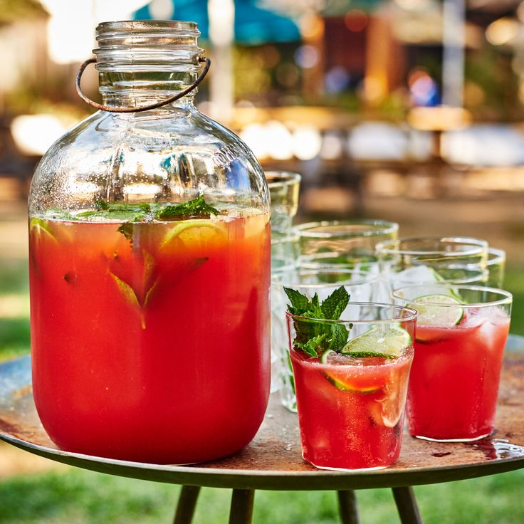 Tequila-Watermelon Aguas Frescas with Prosecco | Food & Wine