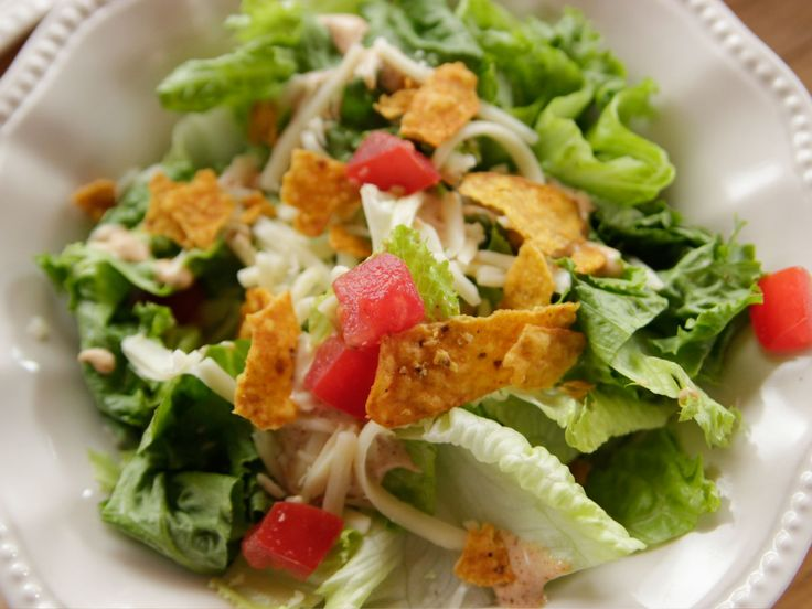 Taco Ranch Side Salad recipe from Ree Drummond via Food Network