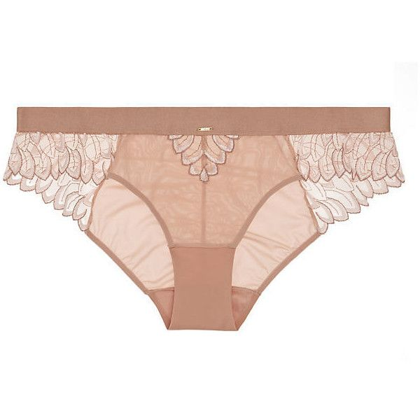 Triumph Elusive Essence Bikini ($34) ❤ liked on Polyvore featuring pearl pink, sheer lingerie, sheer bikini, see through bikini, bikini lingerie and transparent lingerie