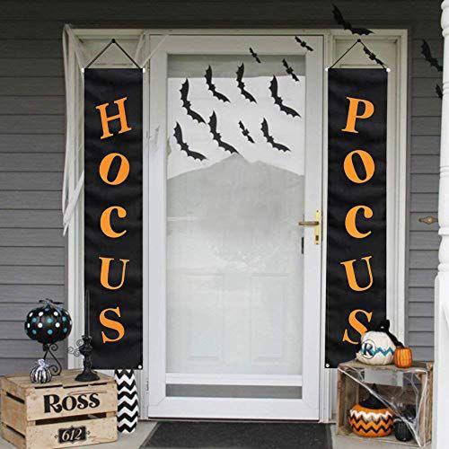 Whaline Hocus Pocus Halloween Banner Indoor//Outdoor Decorative Hanging Sign for