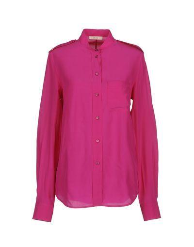 Рубашка Celine 38284647 Зеленый шелк 10400 руб.